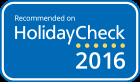 Empfohlen von Holiday Check 2016